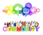 Large Community of Social Networking — Stock Photo
