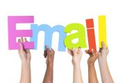 People Holding Word E-Mail — Stock Photo