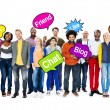 People Holding Speech Bubbles — Stock Photo #52460531