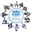 Business People Forming Circle — Stock Photo #52461079
