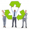 Business People Holding Recycle Symbol — Stock Photo #52461117