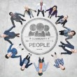 Business People Forming Circle — Stock Photo #52461691