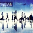 Business People Walking in an Airport — Stock Photo #52461957