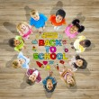 Multiethnic Group of Children with Back to School Concept — Stock Photo #52462009