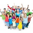 Group of mixed age people cheering — Stock Photo #52462207