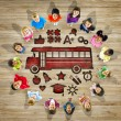 Multiethnic Group of Children with Back to School Concept — Stock Photo #52462413