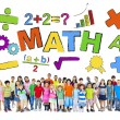 Group of Children and Mathematic Concept — Stock Photo #52462729