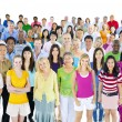Large multi-ethnic group of people — Stock Photo #52463553