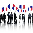 People Discussing About France — Stock Photo #52463913