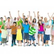 Group of mixed age people cheering — Stock Photo #52463983