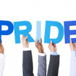 Business People Holding Pride — Stock Photo #52464095