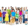 Multi-Ethnic Group of Mixed Age People — Stock Photo #52464637