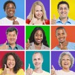 Multi-Ethnic People Showing Thumbs Up — Stock Photo #52465385