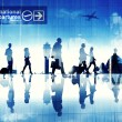 Business People Walking in Airport — Stock Photo #52465799