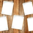 Empty Papers Taped On Wall — Stock Photo #52465809