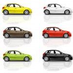 Multicolored New Modern Cars — Stock Photo #52465975
