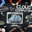 People Discussing About Cloud Computing — Stock Photo #52465987
