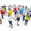 Network of extremely diverse group of young people from around t — Stock Photo #52466045