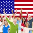 People And American Flag — Stock Photo #52466249