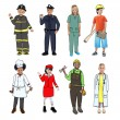 Children Wearing Future Job Uniforms — Stock Photo #52466557