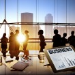 Silhouettes Of Business People Working — Stock Photo #52467173