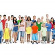 Diverse Colorful Happy People — Stock Photo #52467431