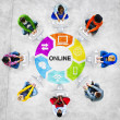 People and Online Concept — Foto de Stock