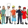 Children Wearing Future Job Uniforms — Stock Photo #52467769