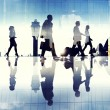 Business Travellers Walking in Airport — Stock Photo #52467777