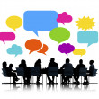 Business People at Meeting with Speech Bubbles — Stock Photo #52467863