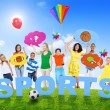 Mixed Age People and Sports Concept — Stock Photo #52468549