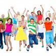 People Celebrating and jumping — Stock Photo #52468671