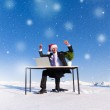 Businessman celebrating christmas — Stock Photo #52469491