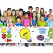 Group of Children Holding Education Concept Billboard — Stock Photo #52469943