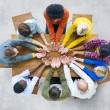 People forming circle with Hands on the table — Stock Photo #52469989