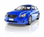 Blue Sedan Car — Stock Photo