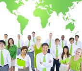 International Green Business Meeting — Stock Photo