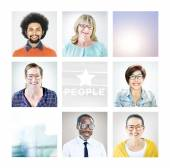 Portrait of Multiethnic Diverse People — Stock Photo