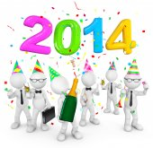 2014 Celebration — Stock Photo