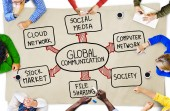 Business People and Global Communications Concept — Stock Photo