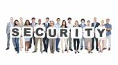 People Holding word Security — Stock Photo