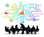 Business People and Data Concepts — Stock Photo