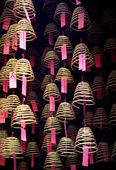 Incense Coils in Chinese Temple — Stock Photo