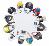 Group of Business People in a Meeting — Stock Photo