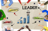 People Discussing About Leadership — Stockfoto
