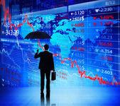 Businessman on Economic Crisis — Stock Photo