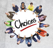 Group of Diverse People in Circle — Stock Photo