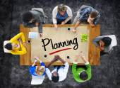 People and Planning Concept — Stock Photo