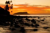 Sunset on Tropical Island — Stock Photo