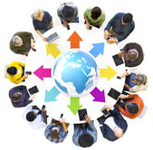 People Globally Connected — Stock Photo